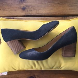 Franco Sarto denim heels, lightly used
